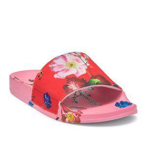 NWT Ted Baker London Pink Floral Slides